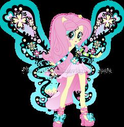 MLP:EG - Shy Butterfly|Vector by CrimSumiC