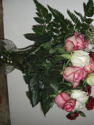 Roses in Vase 2 by shortcakesnail-Stock