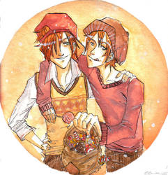 fred and george by myyellow