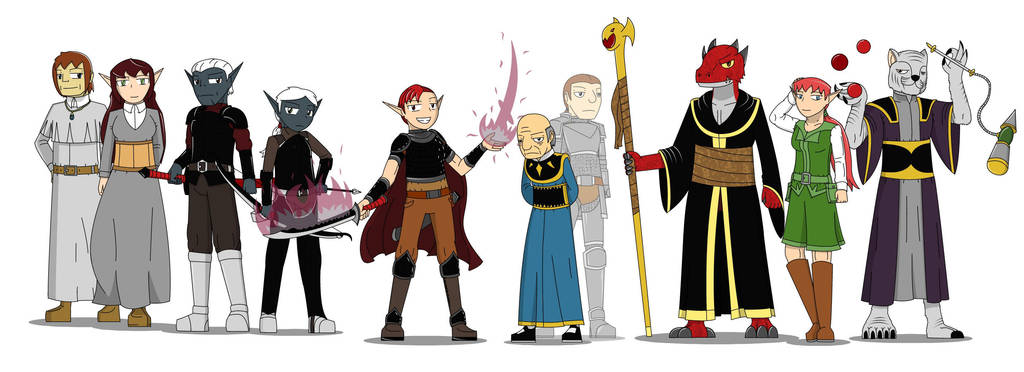 Dungeons and Dragons! The Specter Slayers NPCs 1st by SoakMonkey
