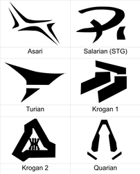 Mass Effect Symbols by YunikoYokai
