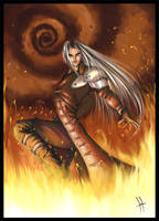 Sephiroth fanart by artanzo