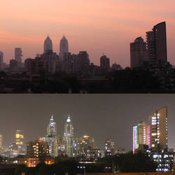 Mumbai Skyline by aatifaqua