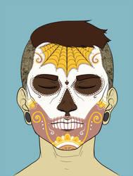 sugar skull by zombiemoose