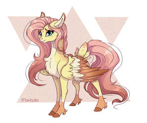 Fluttershy redesign by Marbola