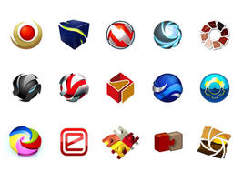 3D logos by hxgraphics