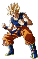 Goku Ssj Namek by Supergoku37