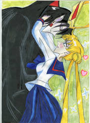 Usagi (Selena) and Prince of Darkness - season 1 by Selenit-Saturn