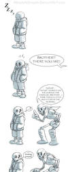 UnderTale Comic: Sleep Walking Problem by AbsoluteDream