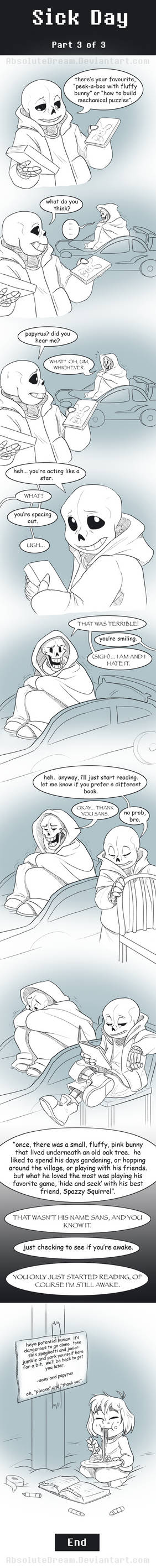 UT Comic: Sick Day Part3 by AbsoluteDream