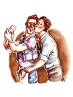 Rhys Had To Kiss Tim by Lost-Opium