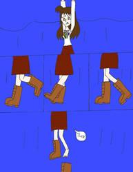 Olivia loosen her boot by ninjakingofhearts