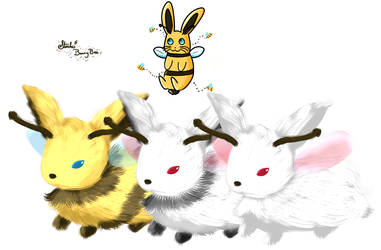 BunnyBees ~ :D by MitsukuniHanizuka