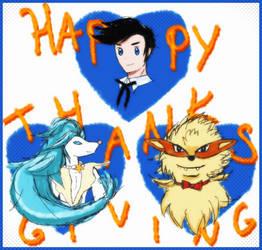 Happeh Thanksgiving ~ XD by MitsukuniHanizuka