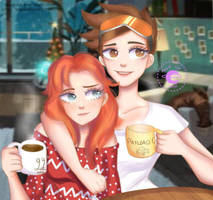 Tracer and Emily by AngieKatNekoOfficial