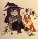 Inktober Day 31: Witchsona. by AngieKatNekoOfficial