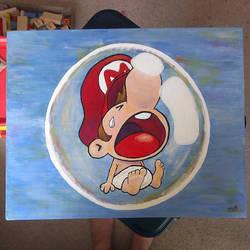 Baby Mario by SarahBeavis