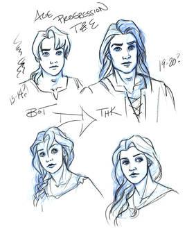 Taran + Eilonwy age progression by saeriellyn