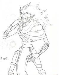 (Dark Witch)Contest entry- Enoch the demon wraith by Proxamina
