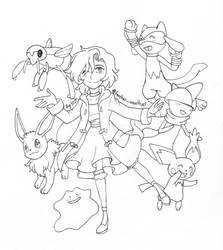 Pokemon Cutie Squad COMM #1- Yuu's Team by Proxamina