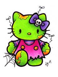 Hello Kitty Zombie by BlueUndine