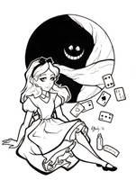 Alice Lineart by BlueUndine
