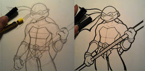 Donatello WIP by BlueUndine