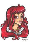 Zephyr Portrait by BlueUndine