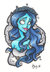 Corpse Bride Commission by BlueUndine