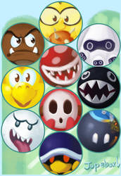 Buttons - Mario Baddies by Jupeboxgal