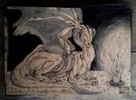 inktober #15 - a mother's warmth by Pantiesaurus