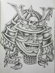 Neo Traditional Samurai Helmet by edi19982