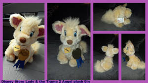 Lady and the Tramp 2 Angel plush 9in by Vesperwolfy87