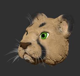 Cougar Kitty by AdnamaSilverstone