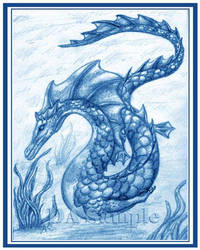 Sea Dragon Blue by AdnamaSilverstone