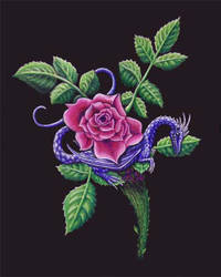 Rose Dragon by AdnamaSilverstone