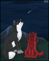 Watching the Stars by wolfysilver