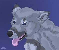 Wolf Headshot by wolfysilver