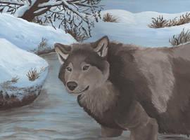 Taking a Swim by wolfysilver