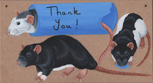 Thank You Rat Sign by wolfysilver