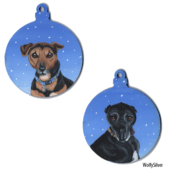 Dog Baubles by wolfysilver