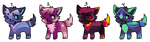 Little Pup Adopts (3/4 OPEN) by EarlGrey-Adopts