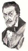 Portrait of Vincent Price by justintcoons