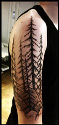 Swedish forest tattoo by Meatshop-Tattoo