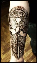 Depeche mode rose geometry tattoo by Meatshop-Tattoo