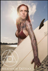 Sacred geometry sleeve tattoo by Meatshop-Tattoo
