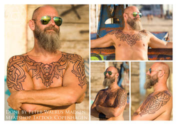 Mantle armor of Heimdal tattoo by Meatshop-Tattoo