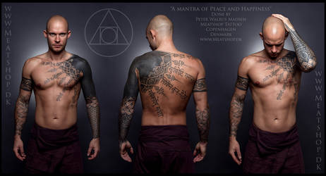 A mantra of Peace and Happiness tattoo 2 by Meatshop-Tattoo