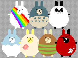 bunny wallpaper by hellohappycrafts