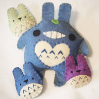Totoro Bun by hellohappycrafts